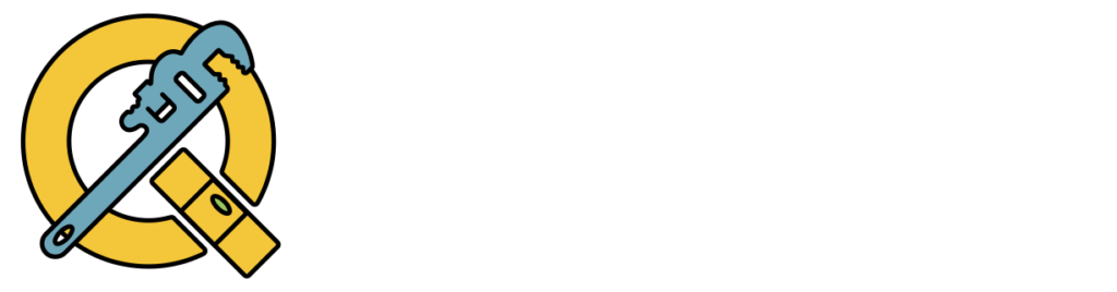QT Plumbing and Construction White Logo