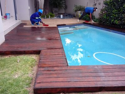 Wooden Deck Fitting and Varnish