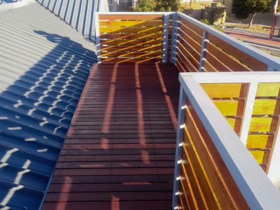 Installation of a Beautiful Wooden Deck